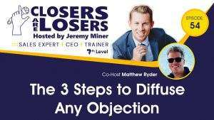 The 3 Steps to Diffuse Any Objection