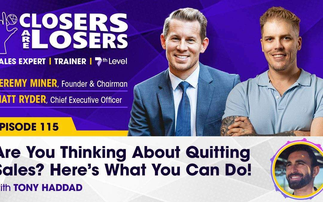 Are You Thinking About Quitting Sales? Here's What You Can Do!